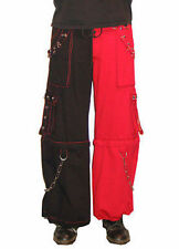 Tripp Nyc Split Leg Black Red Punk Rocker Emo Goth Rockabilly Scene Baggy Pants