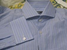 NWT HUGO BOSS SHIRT FRENCH CUFF SHARP FIT LIGHTWEIGHT YR ROUND COTTON $135