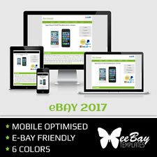 eBay Listing Template Professional Auction Design Mobile Friendly HTML 2017 *7R