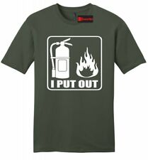 I Put Out Funny Mens T Shirt Fireman Firefighter Shirt Sexual Rude Fire Tee Z2