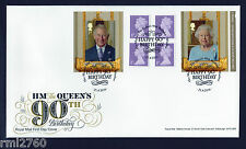 2016 QUEEN'S 90th BIRTHDAY BOOKLET FDC FIRST DAY COVER - Windsor Handstamp