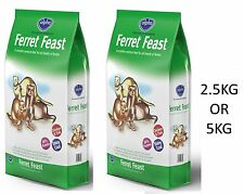 ALPHA FERRET FEAST COMPLETE HIGH PROTEIN FOOD FEED DIET BISCUITS 2.5KG OR 5KG