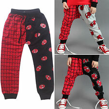 Cool Super Spider-man Kids Boys Girls Anomalous Casual Harem Pants Trousers 2-7Y