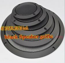 1ps 6# 3/4/5/6.5/8/10 inch black Speaker grille decorative circle for Subwoofer
