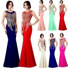 New 2016 Womens Evening Prom Long Formal Dresses ITY Mermaid Wedding Gown 12 14+