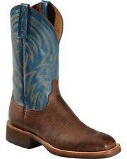 Lucchese MC2661 Mens Cognac & Blue Embellished Leather Western Cowboy Boots
