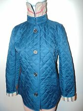 Burberry Brit women's pale petrol blue copford heritage diamond quilted jacket