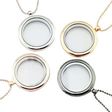 1pcs Floating Charm Living Memory Glass Round Locket Charms Pendant Necklace FT