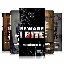 OFFICIAL AMC THE WALKING DEAD TYPOGRAPHY HARD BACK CASE FOR NOKIA PHONES 3
