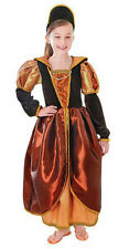 GIRLS MEDIEVAL TUDOR QUEEN STUART DRESS BOOK WEEK COSTUME OUTFIT NEW 4 6 8 10