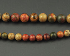 natural red picasso jasper bead round loose gemstone beads 4mm 6mm 8mm 10mm 12mm