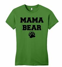 Mama Bear Cute Juniors Petite Mothers Day Gift Tee Mom Mommy Tee