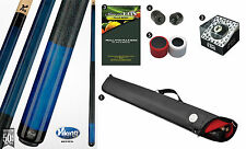 Viking A229 Natural Stain Pool Cue Stick 18-21 oz Case Playboy 8-Ball Shaper