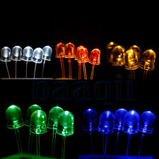 50pcs 10mm 2pin Round Water Clear Round LED Light Lamp Ultra Bright MA