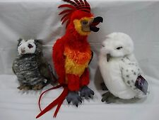 Universal Studios HARRY POTTER PLUSH ANIMALS HEDWIG, FAWKES OR PIGWEDGEON