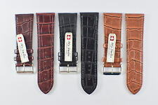 My Swiss Imitation Leather Strap Crocodile Pattern Watch Band Width 28 mm.