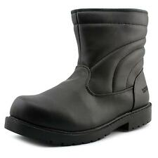Totes Suburb Men W Round Toe Synthetic Black Winter Boot NWOB
