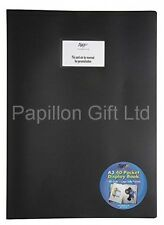 A3 Black 40 Pocket Display Book Flexicover Presentation Portfolio/Folder/Artwork