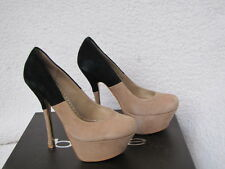 BEBE SHOES heels pumps RENA KCM BLACK BEIGE 9