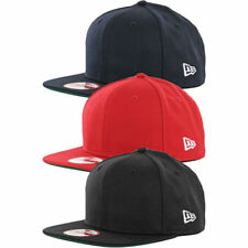 New Era 9Fifty Plain Blank Snapback Hat Original Uniform Cap Black Navy Red