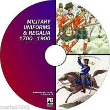 THOUSANDS VINTAGE MILITARY UNIFORM IMAGES FRENCH PRUSSIAN BUCQOY ETC NEW PCDVD