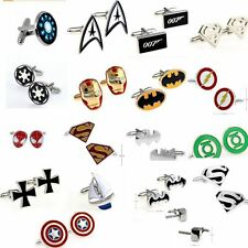 USA Superhero retro Cuff Links  jewelry wedding Party mens novelty cufflinks
