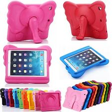 Kids Cute Elephant EVA Handle Shockproof Stand Cover Case For Apple iPad Tablet