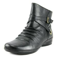 Naturalizer Cycle Women  Round Toe Leather Black Ankle Boot NWOB