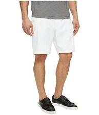 Perry Ellis Mens Solid White Flat Front Big & Tall Cotton Dress Shorts