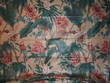 Westgate Cyrus Clark Tropicale vntg exotic floral with birds fabric by the yard