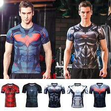 3D Comics Superhero Compression T-shirts Gym Sports Short Sleeve Bicycle Jersey