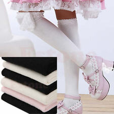 Lolita Lace Top Socks Gothic Punk Rock Over Knee Thigh-Highs Stockings Regular