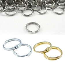 100Pcs Jump Open Double Gold Split 7/8/10mm Silver NEW Connectors Metal Rings