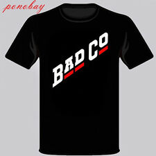 New BAD CO Bad Company Rock Band Legend Men's Black T-Shirt Size S-3XL
