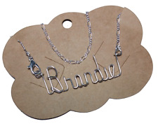 Anklet/Ankle Bracelet Personalized Sterling Silver  Any Name Made sizes 7 - 12