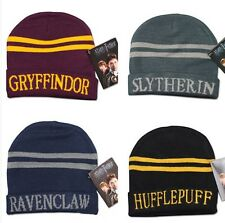 HARRY POTTER GRIFFINDOR RAVENCLAW SLYTHERIN HUFFLEPUFF KINTTED HAT CAP