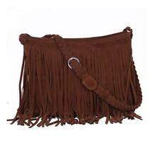 Crossbody Vintage Hot Suede Satchel Shoulder Bag Fringe Tassel Messenger Faux