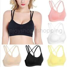 Strappy Criss-Cross Wire Free Seamless Sports Bra Gym Bra Yoga Bra for Women