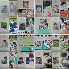SEVENTEEN 1st album First Love&Letter CD selected photocard folded poster KPOP a