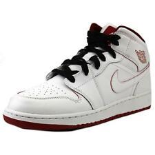 Jordan Air Jordan 1 Mid  Youth  Round Toe Leather  Basketball Shoe