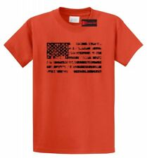 Distressed American Flag T Shirt American Pride USA Patriotic July 4th Tee S-5XL