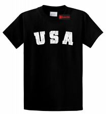 Distressed USA T Shirt American Pride Patriotic Home Gift Tee