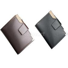 Zippered Men's Slim Trifold Leather Wallet Cash Card Holder Standard Wallet
