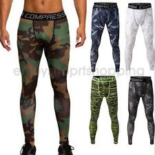 Men Yoga Running Pants Sports Gym Stretchy Leggings Exercise Sports Trousers