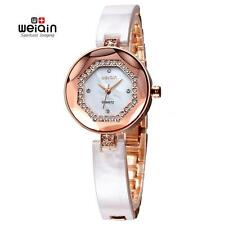 New WEIQIN Elegant Women Fashion Rhinestone Shell Analog Quartz Wrist Watch L6V2