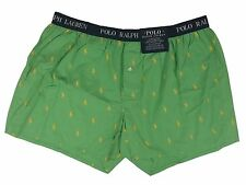Polo Ralph Lauren Green Boxer Shorts Woven Underwear All Over Pony Print XL