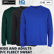 New Mens Adults P/C Fleecy Sweat Shirt Warm Up Workwear S M L XL 2XL 3XL 4XL 5XL