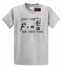 May The Force Be With You Funny Math T Shirt Geek College Teacher Gift Tee