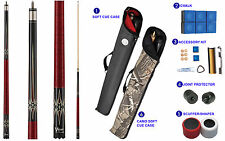 Viper Sinister 50-1351 Pool Cue Stick Blue Oval Burgundy Stain & Points 18-21oz
