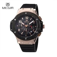Luxury MEGIR Mans Chronograph Watch Date Rubber Waterproof Military Wrist T9I8